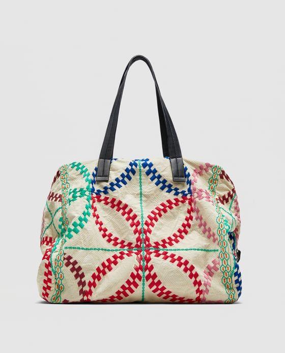 5ac304a52 SHOPPER BORDADOS   ZARA - I ღ Rad   Bags 2017 trends, Bags, Zara women