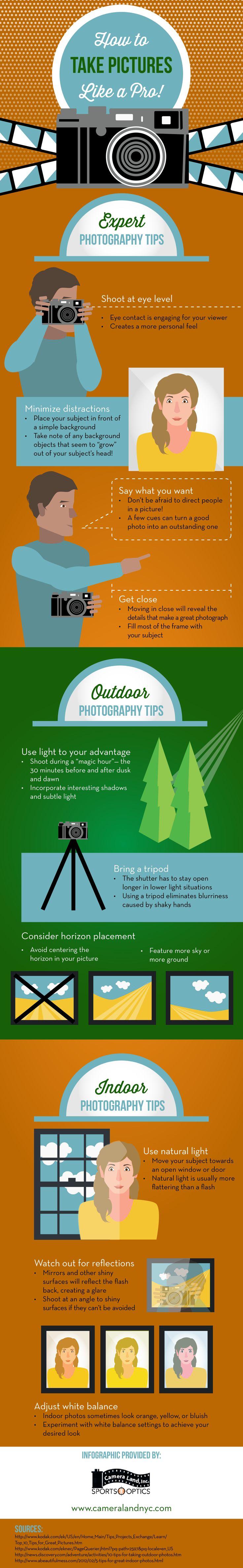 Cómo hacer fotografías como un profesional #infografia #infographic | TICs y Formación