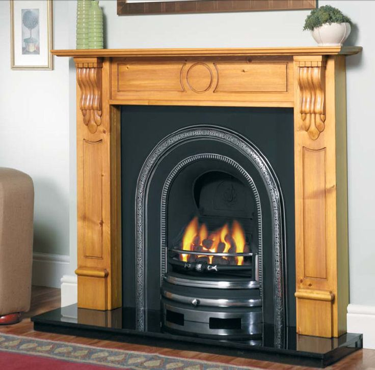 Fireplaces Incised Corbel Solid Wood Surround From