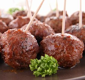 Crock-Pot BBQ Party Balls - Edna's Kitchen | Dahl's Foods