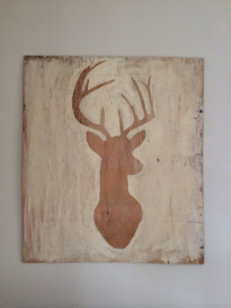Stag Rustic wall art