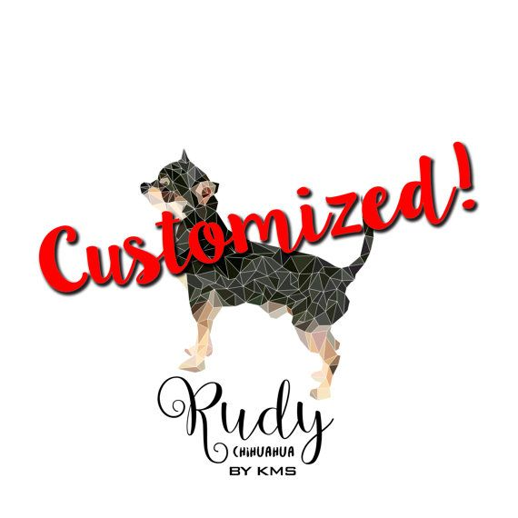 CUSTOMIZED dog printable. Personalized cute by KeepMakingSmiles