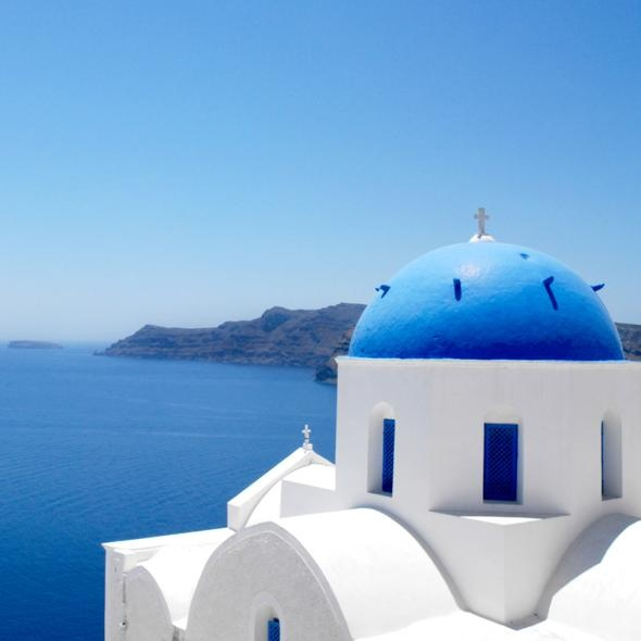 Santorini, GreeceSantorini Greece, Buckets Lists, Favorite Places, Dreams, Beautiful, Places I D, Travel, Greek Islands, Electric Blue