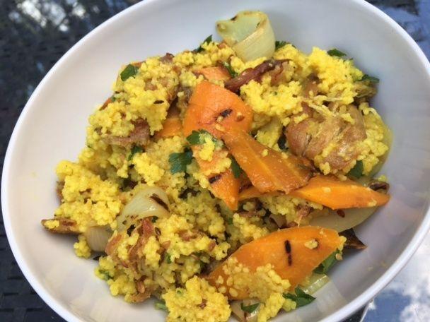 Kuskus s grilovanou zeleninou a mäsom (fotorecept) - obrázok 3