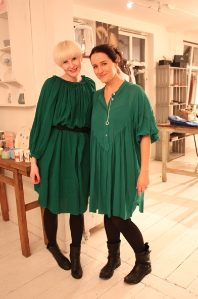 two in green