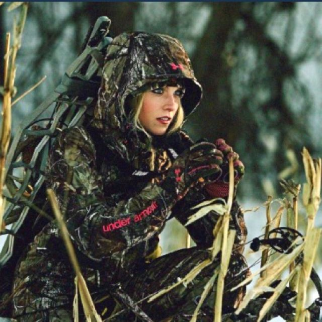 Whitney Isenhart - She hunts and models/is a spokeswoman for Under Armour.