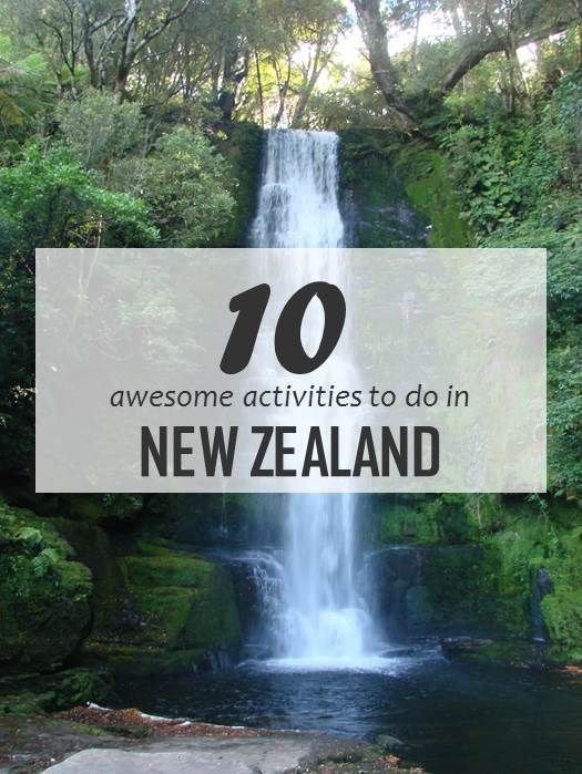 New Zealand is awesome and so are these activities! From hiking to kayaking and a cruise in the Milford Sound to a visit to Whakarewarewa thermal village, there is so much to do!