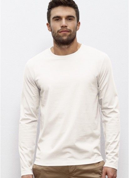 Vintage White Kesper - Men's long sleeve t-shirt. Fair trade and made from 100% organic cotton. Made in Bangladesh/Turkey. #fairtrade #organiccotton #longsleevetshirt