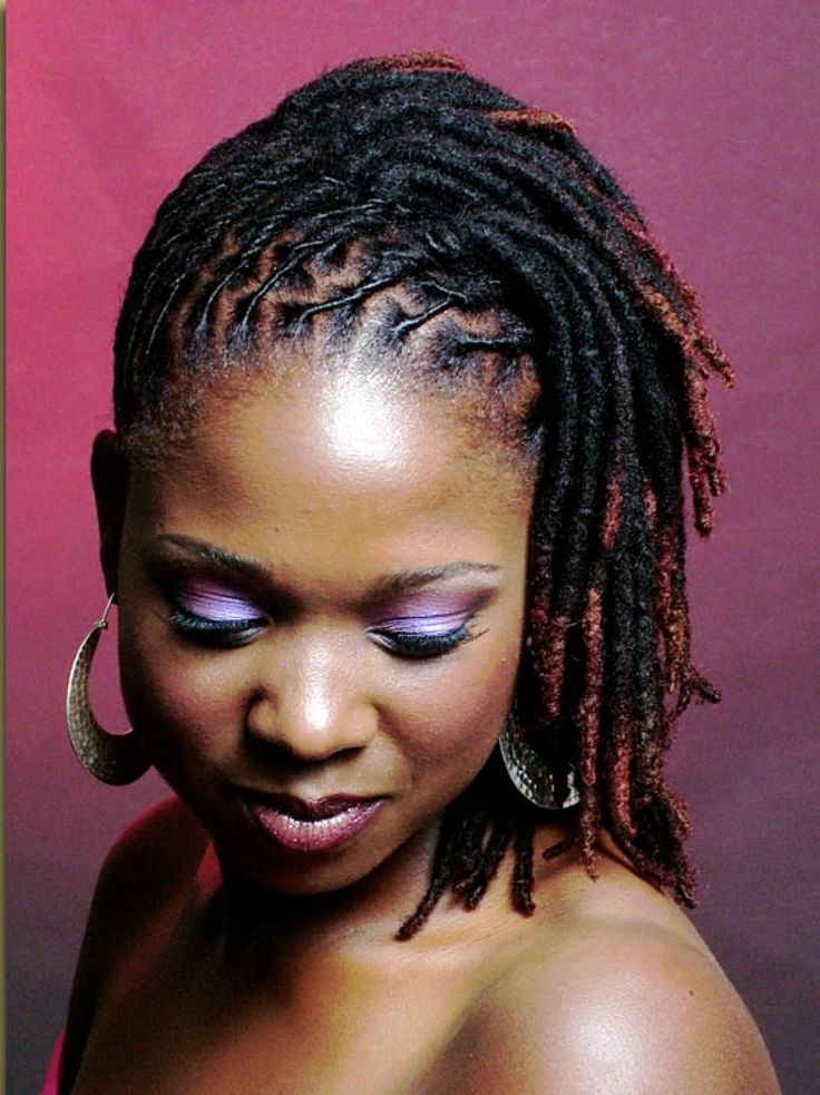 Short Dreadlock Styles for Black Women                              …