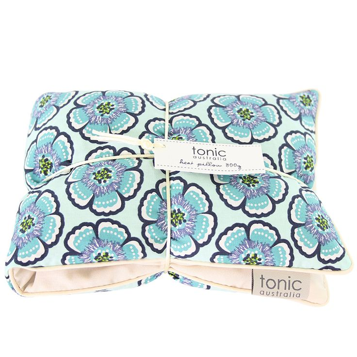 Flora Sea Green Heat Pillow - Filled with lavender and Barley - Warm for 2 minutes