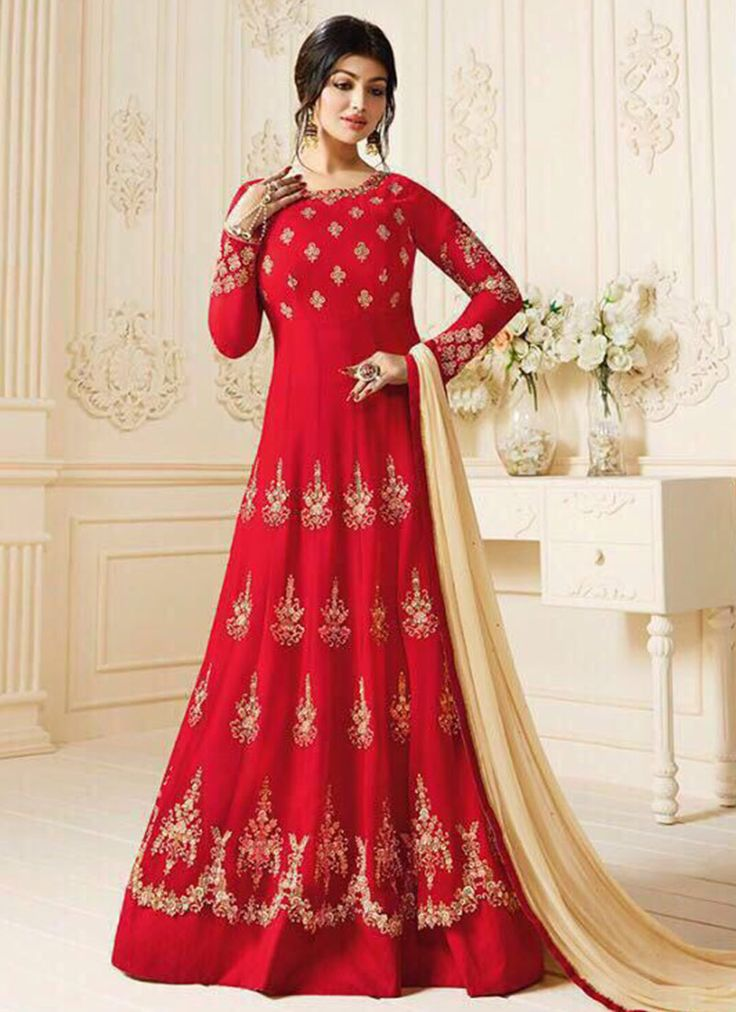Buy Ayesha Takia Red Abaya Style Anarkali Suit online, SKU Code: SLSCC601. This Red color Party anarkali suit for Women comes with Embroidered Faux Georgette. Shop Now!