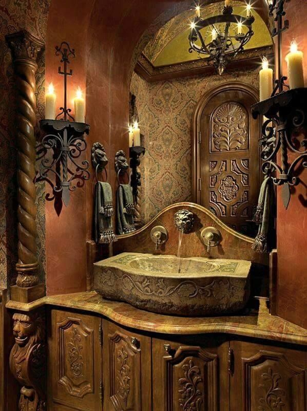Old World Vanity Decor In 2018 Pinterest Bathroom Home And Tuscan