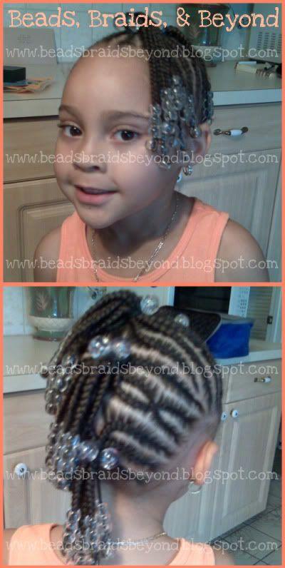 Mohawk braid style for little girl