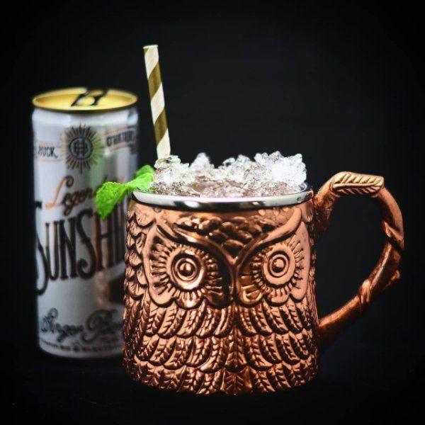 Start the week off with this kick started Ginger cocktail! @drinkthesunshine Ginger Berry, grapefruit juice, @covingtonspirits sweet potato vodka, @hellacocktailco Ginger bitters in everyone's favorite owl mule mug from @pier1. . . . #mule #Ginger #vodka #grapefruit #cocktailgram #cocktailporn #cocktail #cocktails #cocktailsofinstagram #drink #drinks #drinkup #drinkstagram #drinkagram #cocktailoftheday #drinkoftheday #mixology #spirits #liquor #pier1