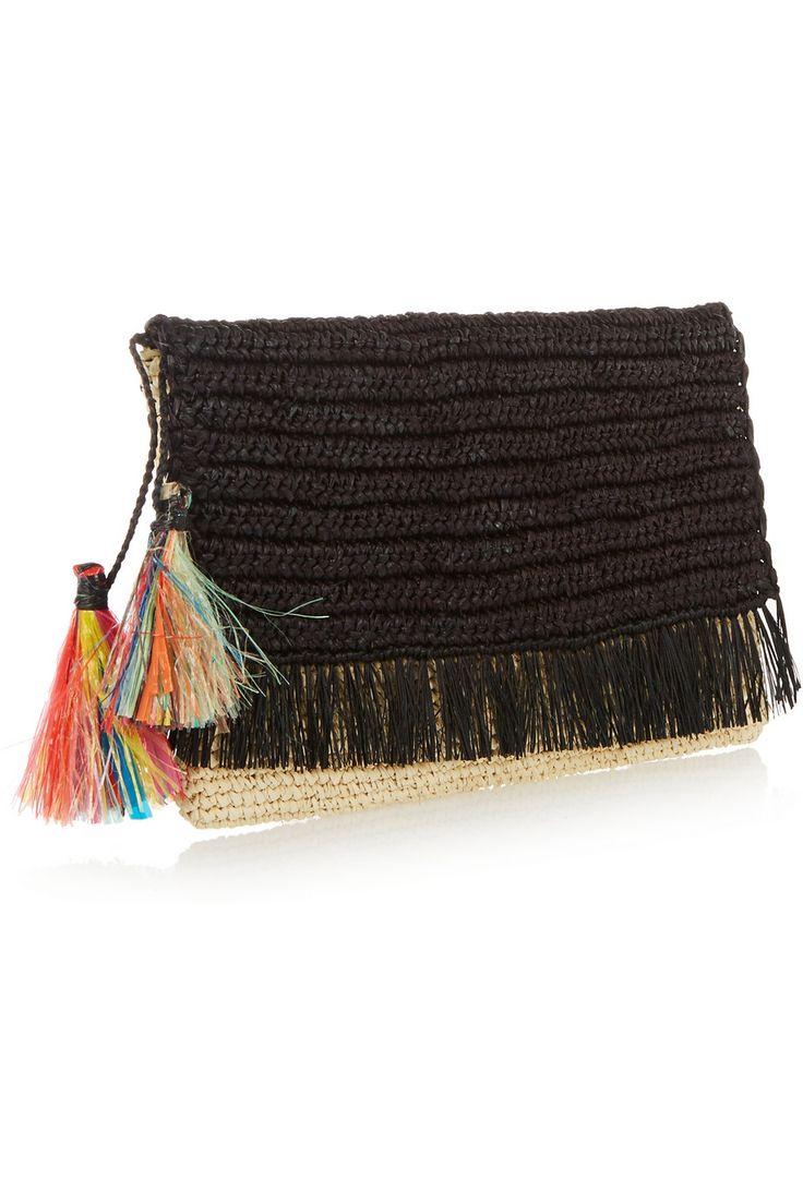 Sensi Studio|Tasseled woven toquilla straw clutch|NET-A-PORTER.COM