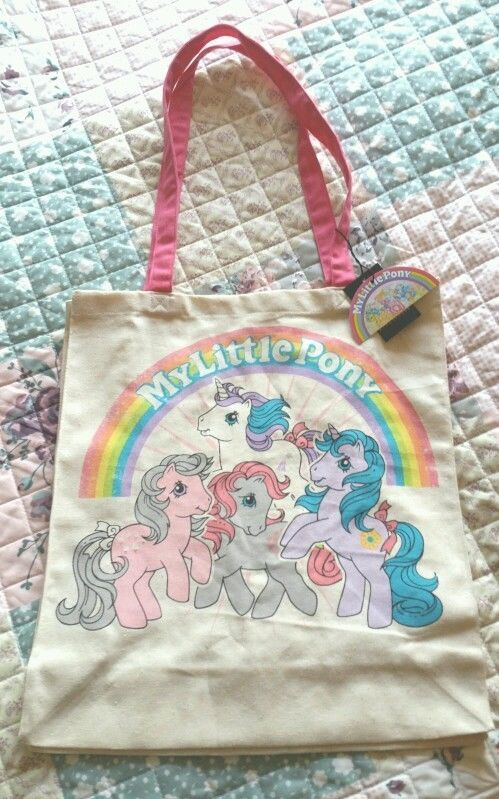 My Little Pony Retro Tote Bag 80s Cartoons Toys Games Primark Gift Fun Vintage  #Primark #Totes
