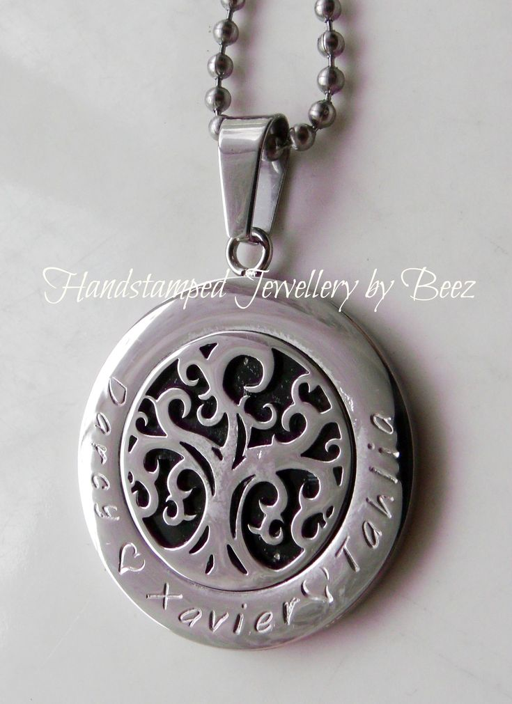 Forever Filagree Tree Pendant - Hand Stamped By Beez