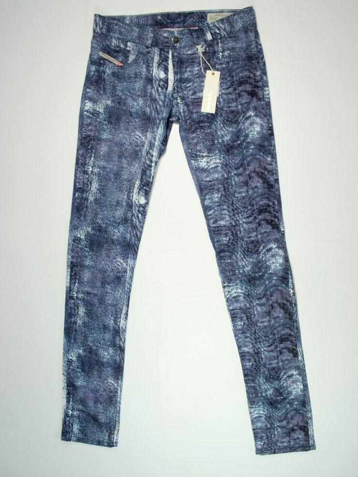 New Diesel Jegging Size 27 Livier SP Super Slim Low Waist Wash 003N1 jeans #DIESEL #Leggings