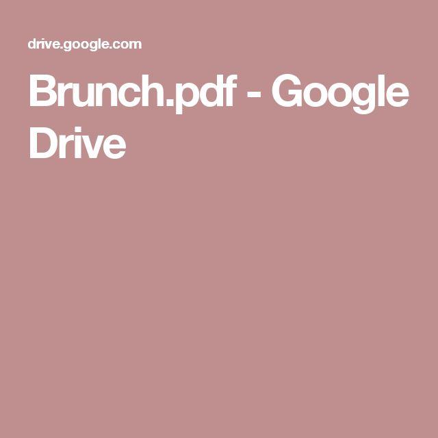 Brunch.pdf - Google Drive