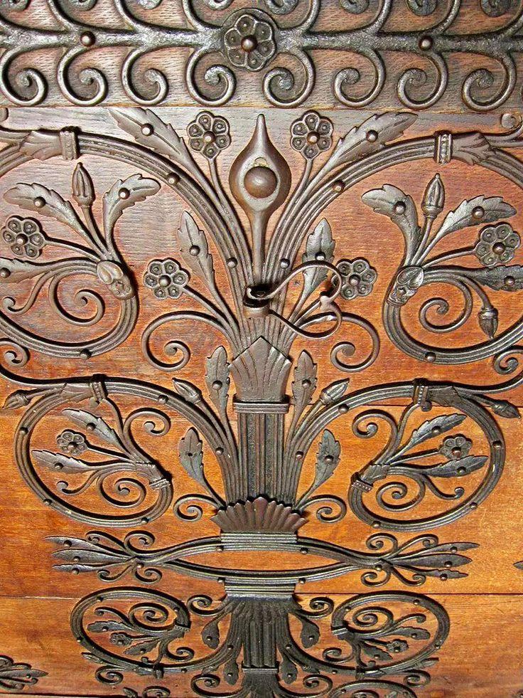 wrought iron door hinge & 147 best door hinges images on Pinterest   Arquitetura French doors ...