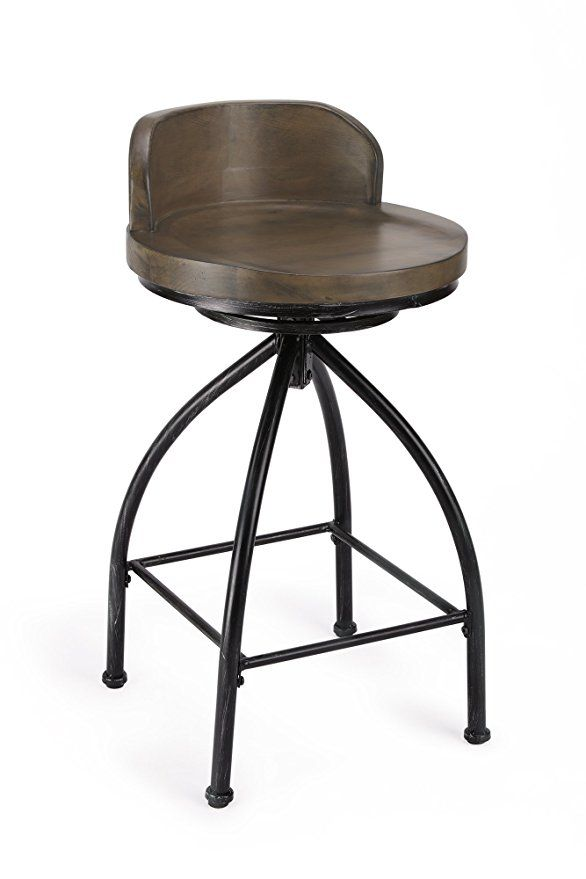 Fivegiven Rustic Industrial Counter Stool 24 Inch Bar Stools With