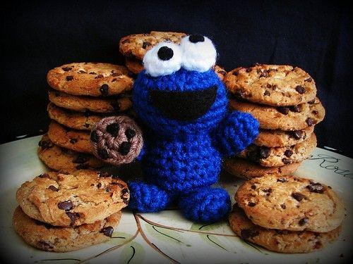 Amigurumi Cookie Monster : Knitted Cookie Monster! Violently cute! zeblue ...