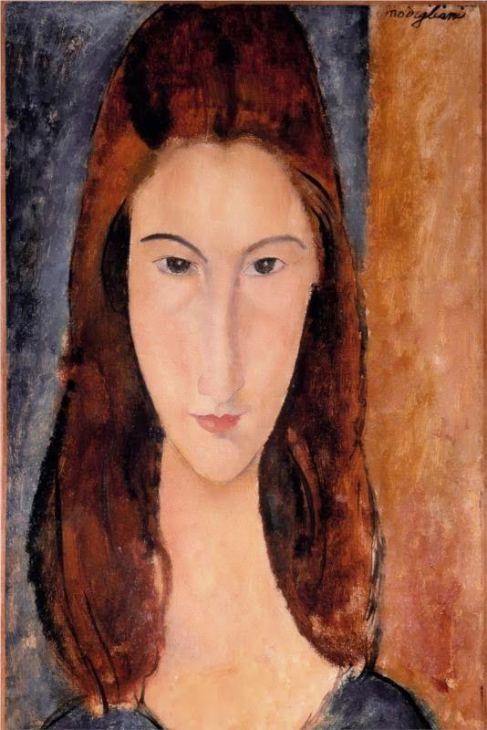 BUITEN PROPORTIE: werk van Italiaans  kunstschilder en beeldhouwer Amadeo Modigliani (1884-1920).Kenmerkend voor hem zijn  de langgerekte gezichten en lichamen in warme, gloeiende kleuren.