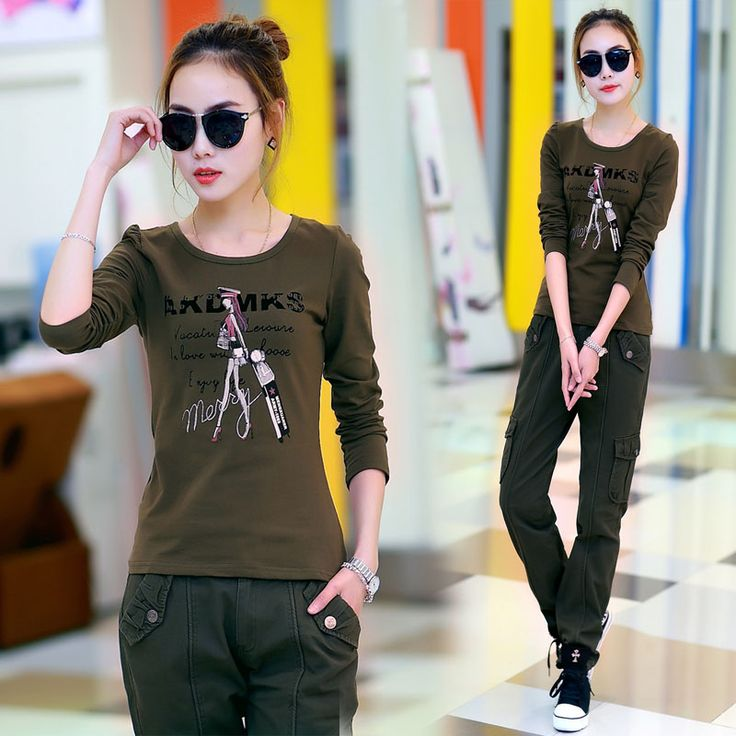 2017 Limited Time-limited Fashion Camisetas Unicorn Female Sleeved T-shirt Spring Section Sports Camo Shirt Girl Slim All-match