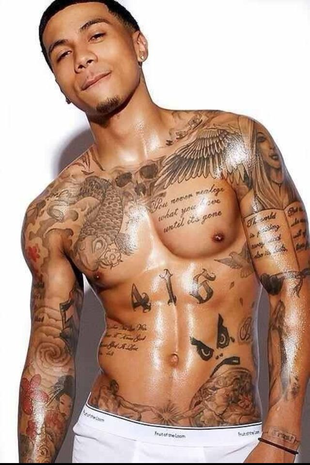 Handsome black men and tattoos | Chocolate Assortments | Pinterest