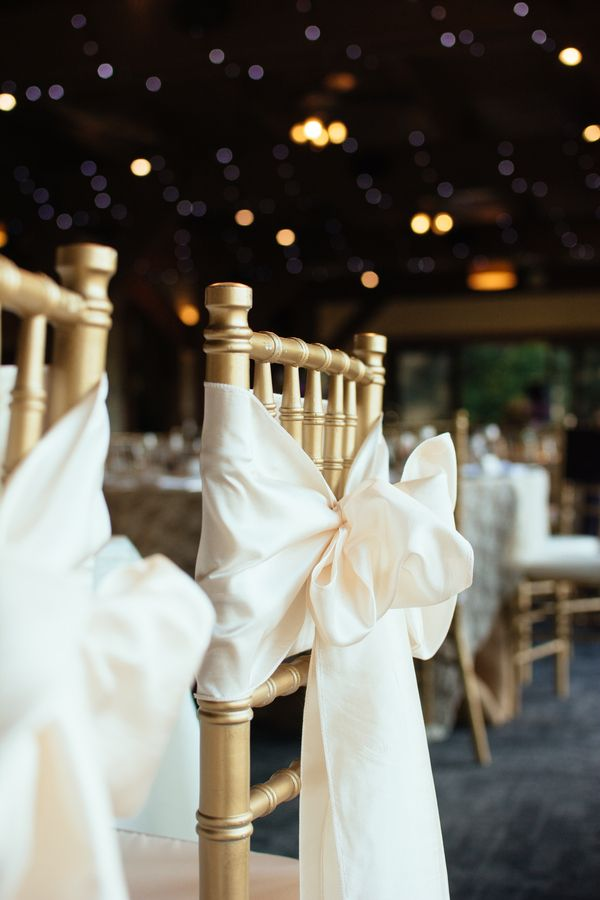 Chair With Bows Rustic Wedding Reception And Party