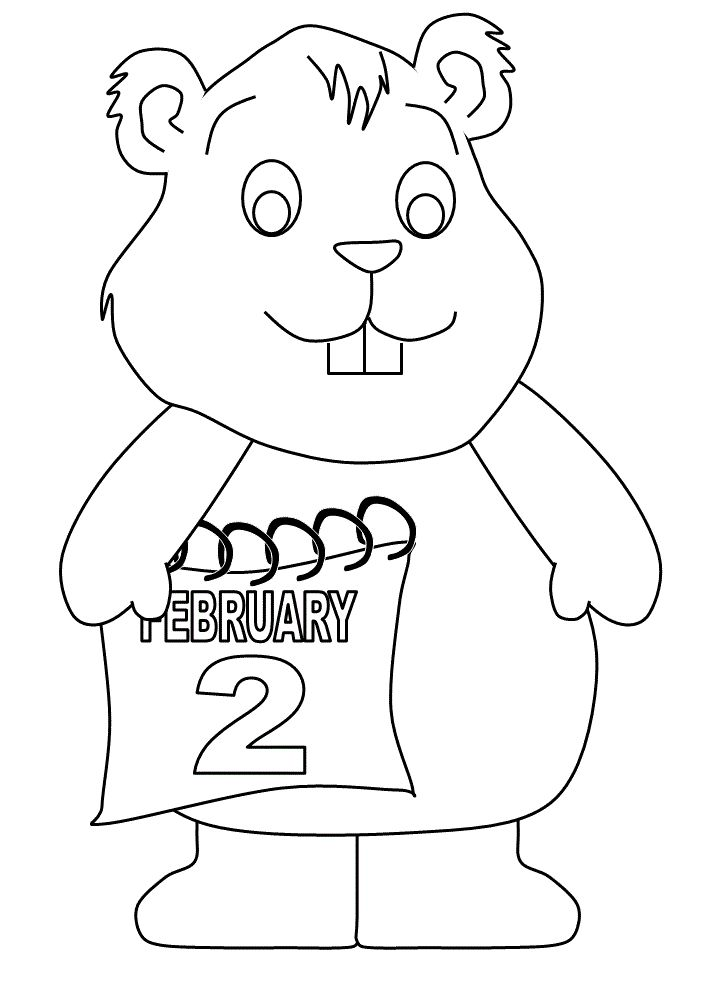 groundhog day 2 february coloring pages for kids printable groundhog day coloring pages for kids - Groundhog Day Coloring Pages Kids