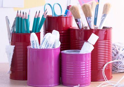 Aufbewahrung von Stiften und Pinseln