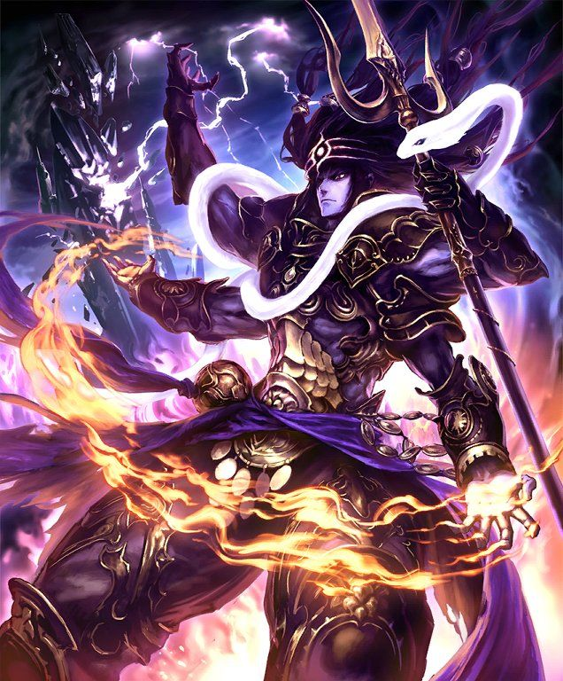 Card Shiva Anime Art Fantasy Anime Fight Fantasy Pictures