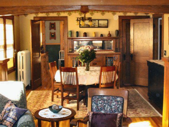 Bungalow Dining Room 1925 Craftsman Style With Bradbury Frieze