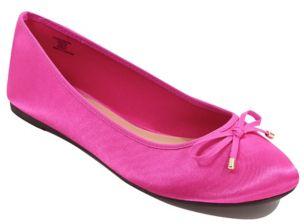 Hot Pink Satin Ballet Shoes