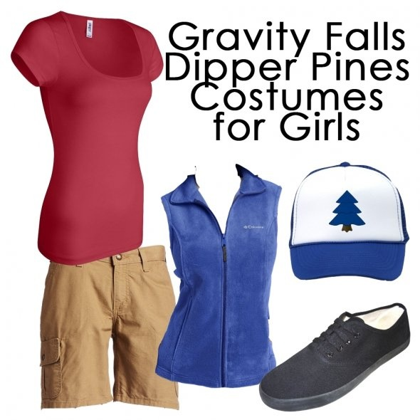 Gravity Falls Dipper Pines Costume for Girls - It's affordable and is the perfect feminine yet authentic version of his outfit!