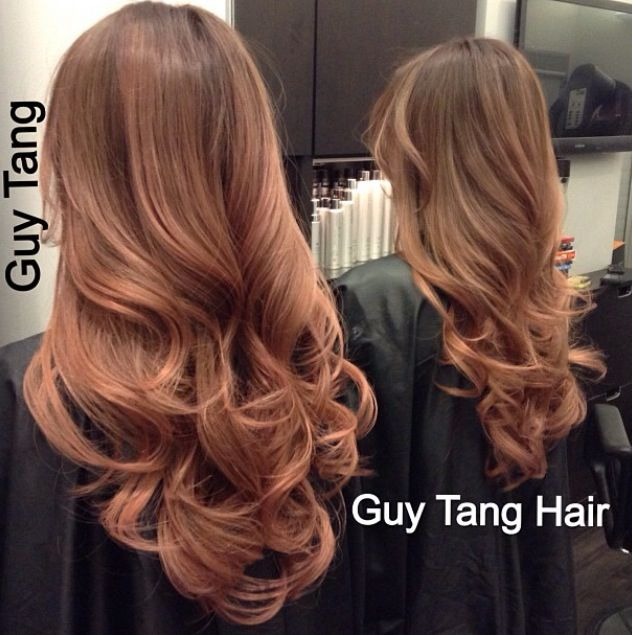 Guy tang Rose gold balayage ombre