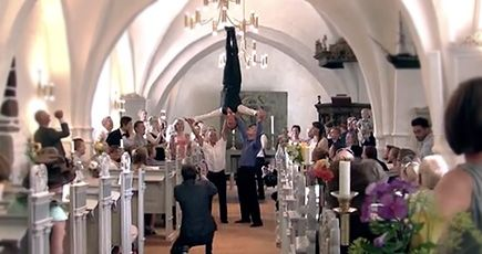 You'll FLIP Over This Incredible Wedding Entrance - an Acrobatic Wedding Flash Mob - Misc Video