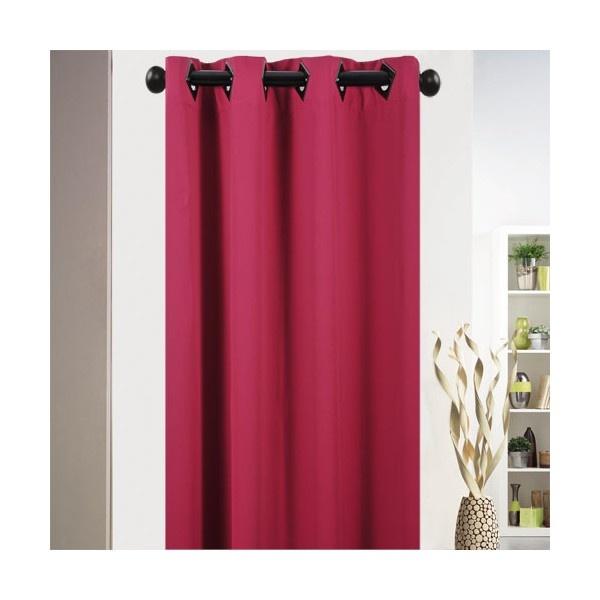 rideau oeillets occultant fushia rideaux et voilages pinterest. Black Bedroom Furniture Sets. Home Design Ideas