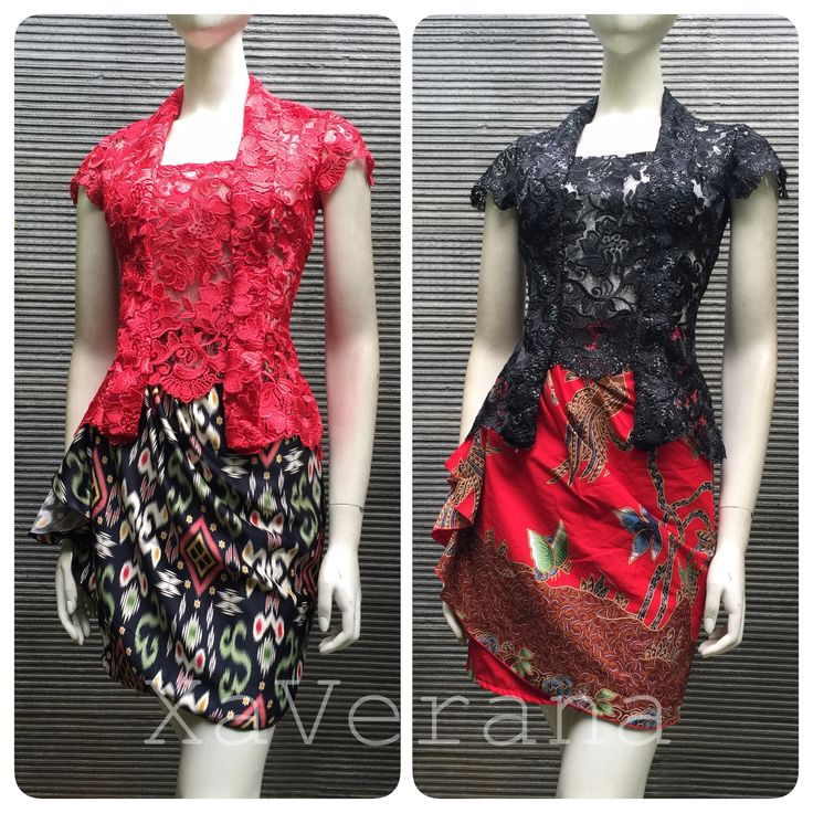 Kebaya Black and red never failed Instagram @xaverana