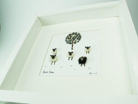 Pebble Art - Pebble Picture - Farming Art - Wall Art - Family Gift - Mothers…