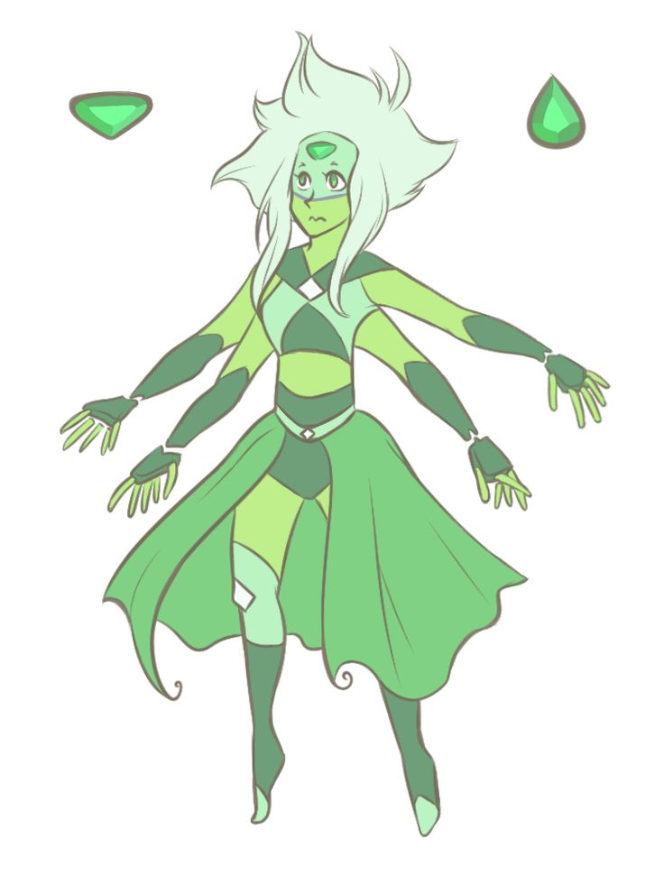 Lapis-Peridot Fusion: Emerald by Porkapine on DeviantArt (Steven Universe fan art)