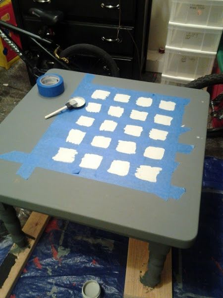 Dorothy Sue And Millie Bu0027s Too: How To Paint A DIY Checkerboard Coffee Table