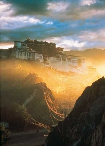Potala Sunrise# How to get in Tibet and how much is it?# http://www.tibet-tours.org/2017/08/how-much-is-cost-of-tibet-tour-part-3.html