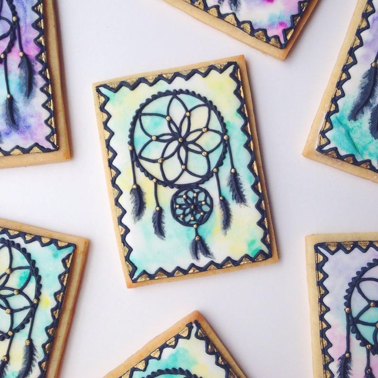 Dreamcatcher Cookies Cookies Pinterest Baby Shower