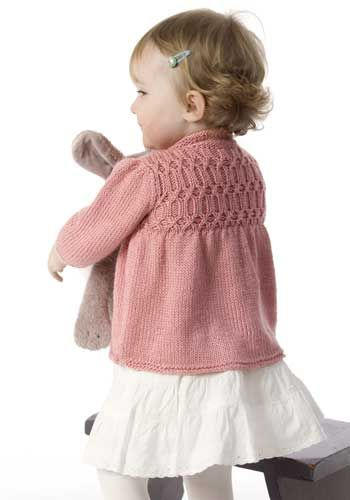 Cute Baby Sweater. Free pattern.