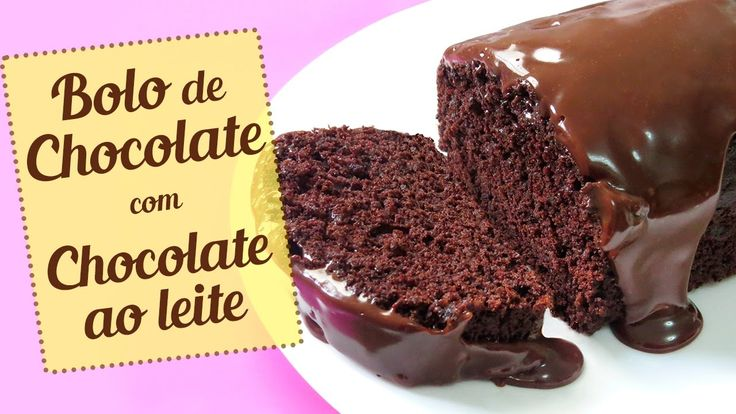 Bolo de Chocolate com cobertura de chocolate ao leite