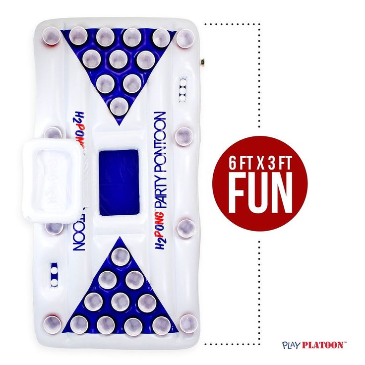 Inflatable Floating Cooler Beer Pong Table Swimming Pool Drinking Game Party New #PlayPlatoon