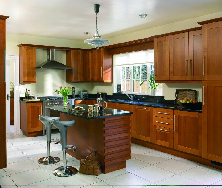 #cherry #solid #kitchen #design #decor #style #furniture