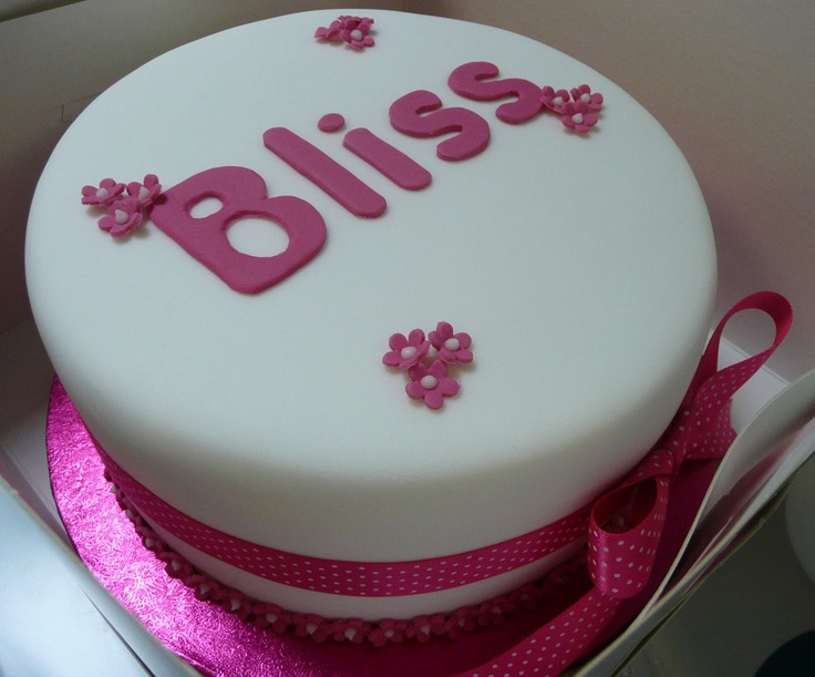 A beautiful Bliss cake baked by staff at Tommee Tippee, who have made us their Charity of the Year for 2013